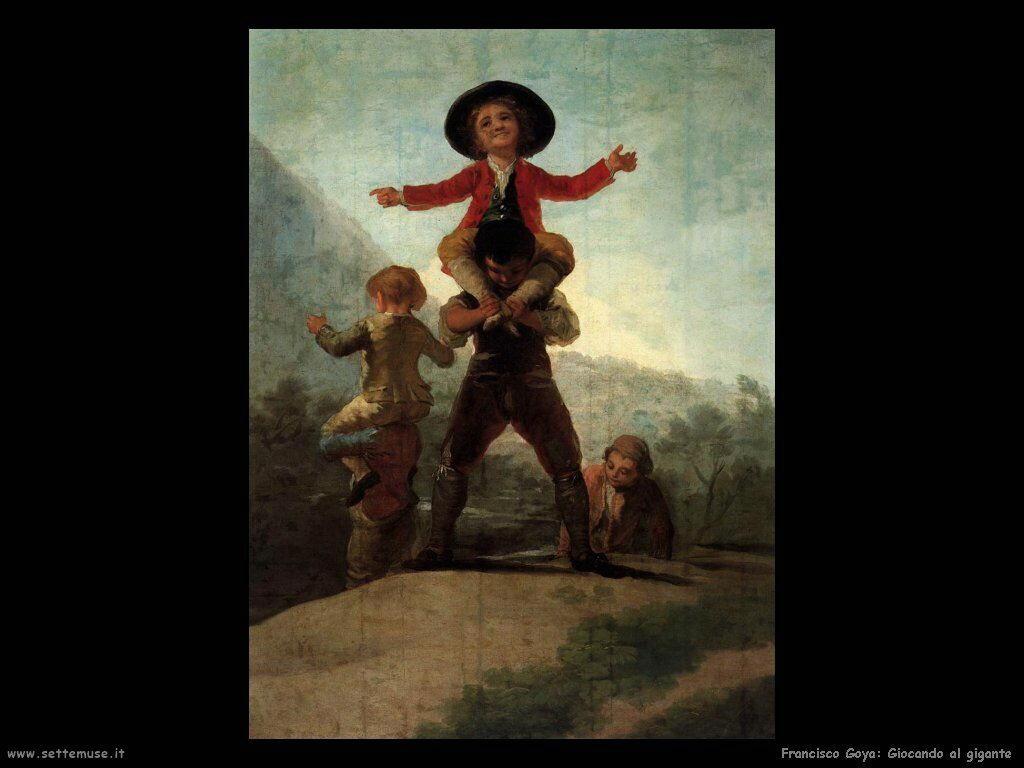Francisco de Goya giocando ai giganti