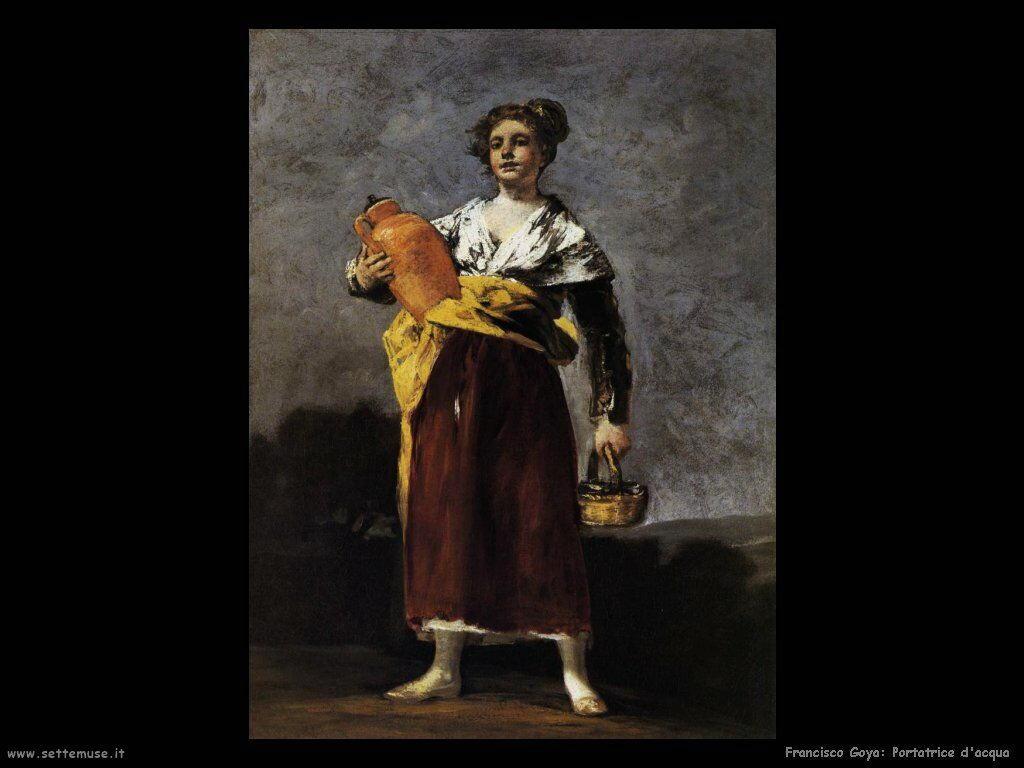Francisco de Goya portatrice di acqua