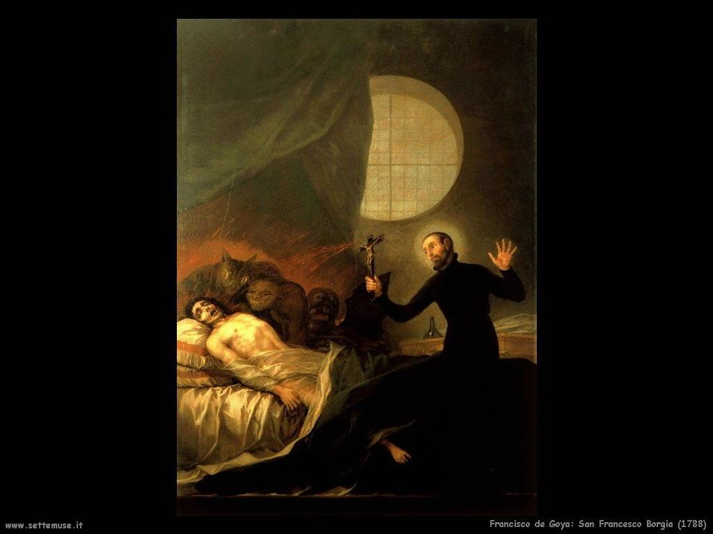 Francisco de Goya san francesco borgia 1788