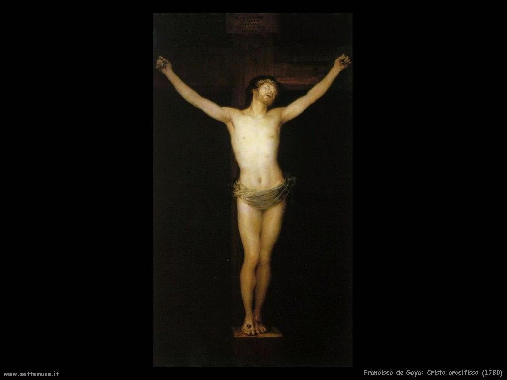 Francisco de Goya cristo crocifisso 1780