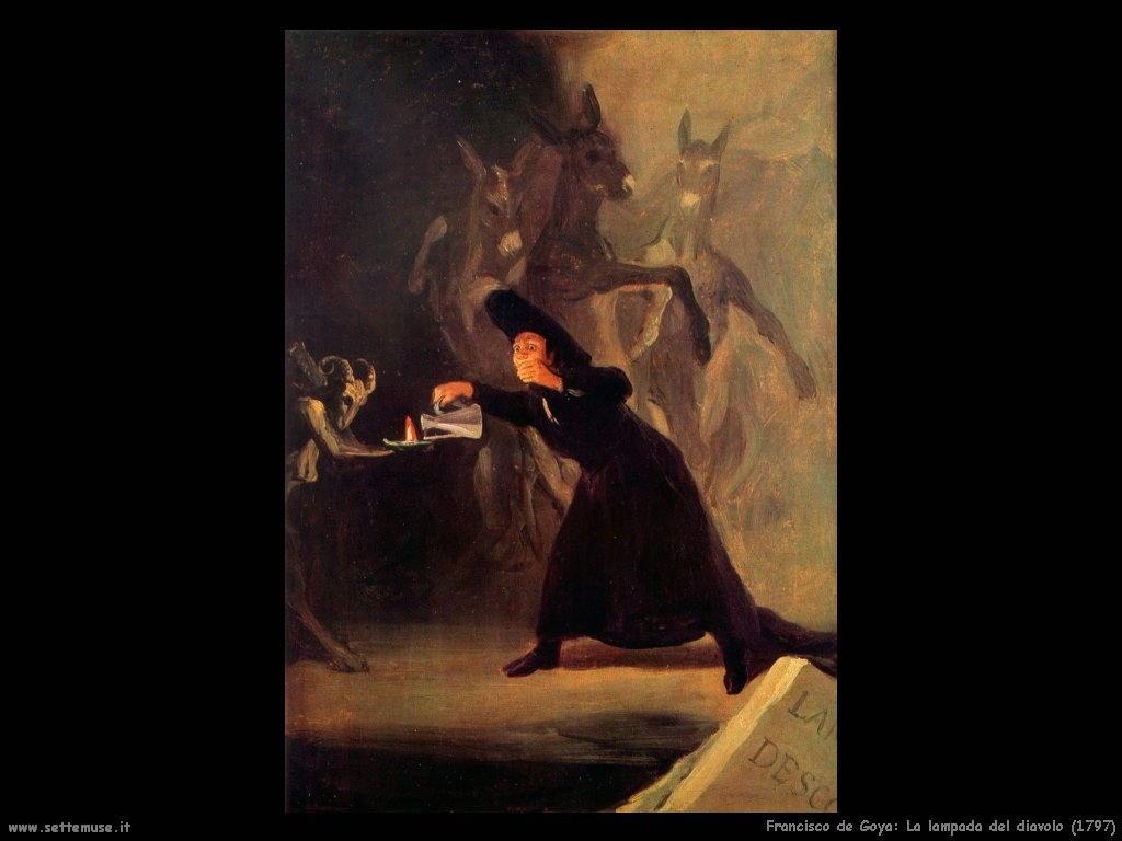 Francisco de Goya lampada del diavolo 1797