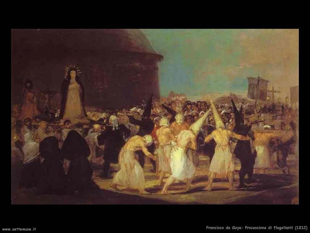 Francisco de Goya processione di flagellanti 1812