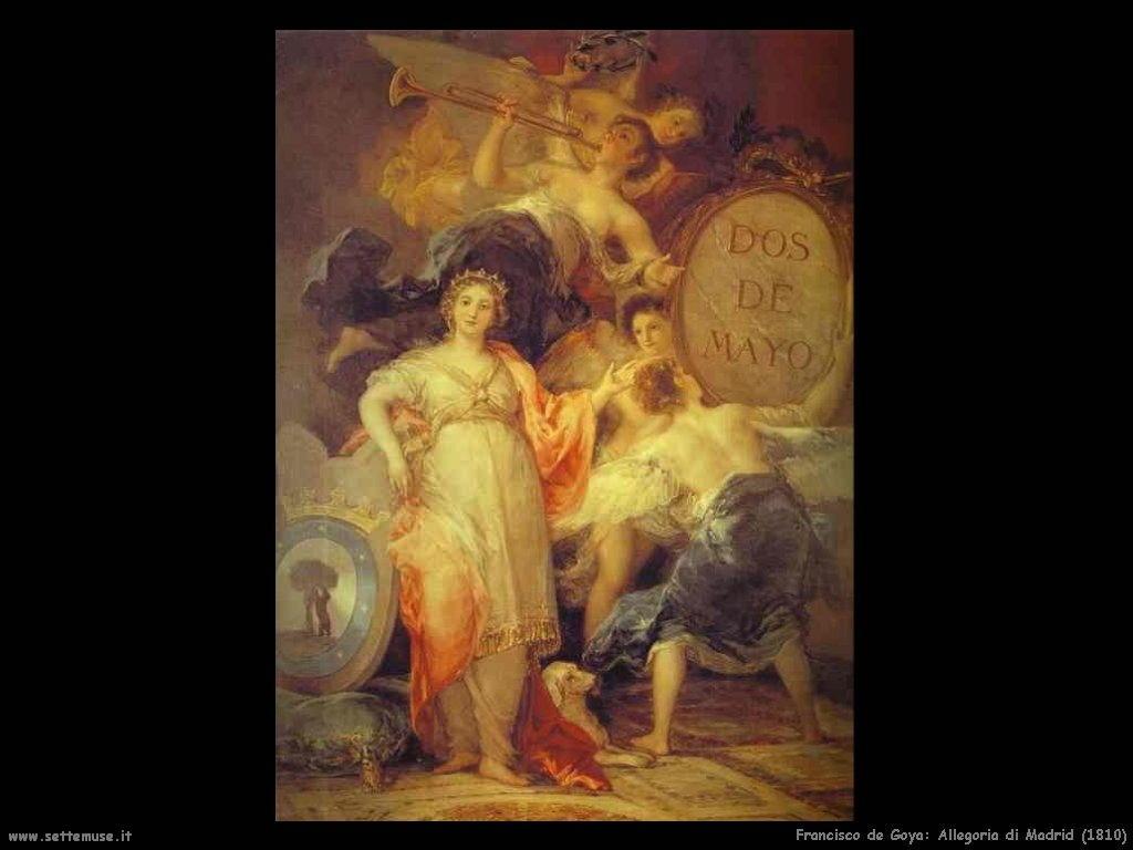 Francisco de Goya allegoria di madrid 1810