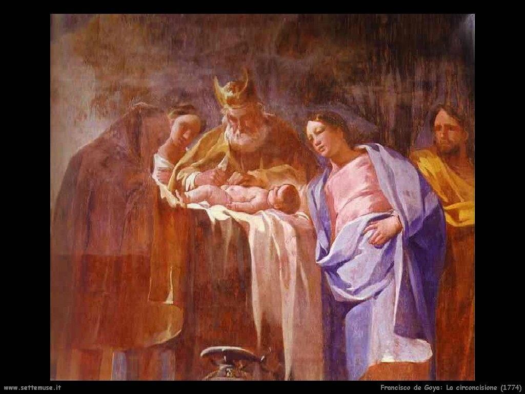 Francisco de Goya circoncisione 1774