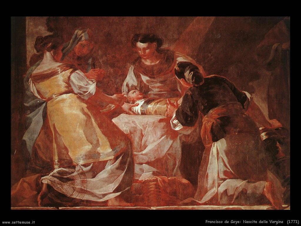 Francisco de Goya nascita della vergine 1771