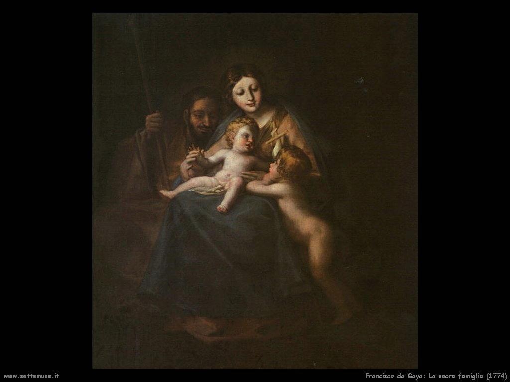 Francisco de Goya la sacra famiglia 1774