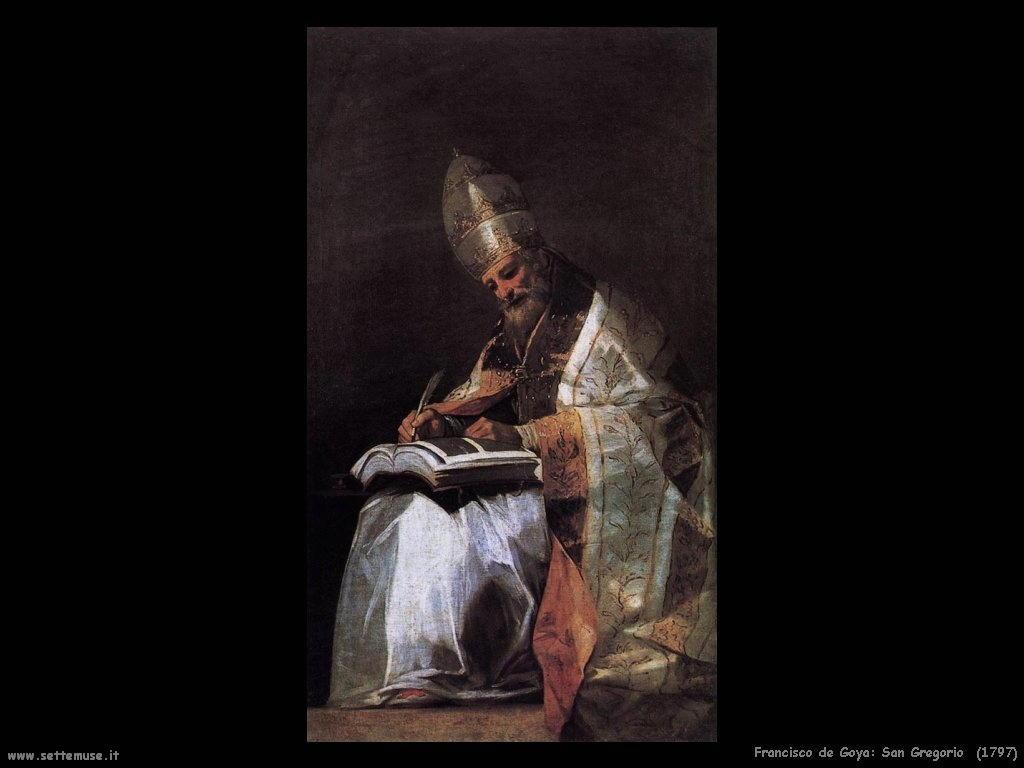 Francisco de Goya san gregorio 1797