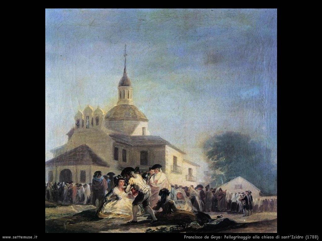 Francisco de Goya pellegrinaggio alla chiesa sant isidro 1788