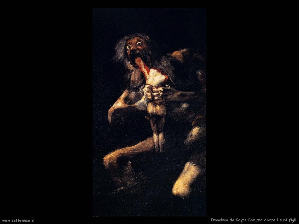 Francisco de Goya saturno divora i suoi figli