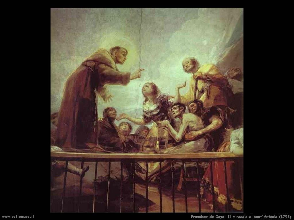 Francisco de Goya il miracolo di sant antonio 1798