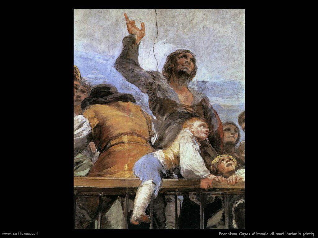 Francisco de Goya miracolo di sant antonio dett