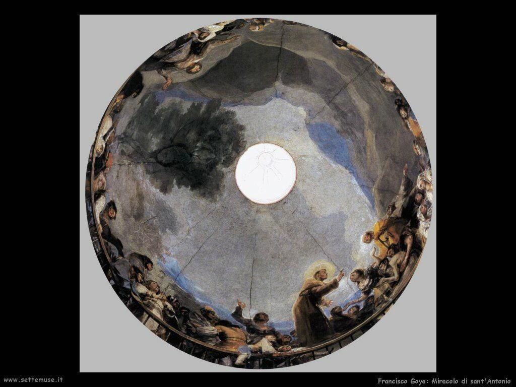 Francisco de Goya miracolo di sant antonio