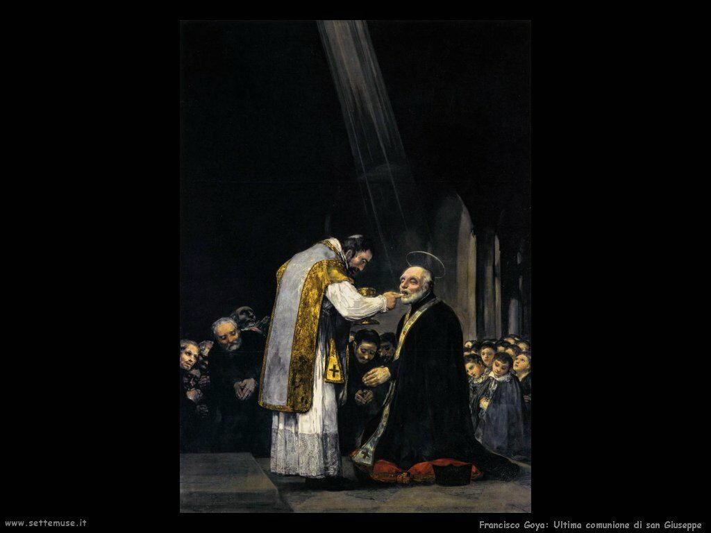 Francisco de Goya ultima comunione di san giuseppe