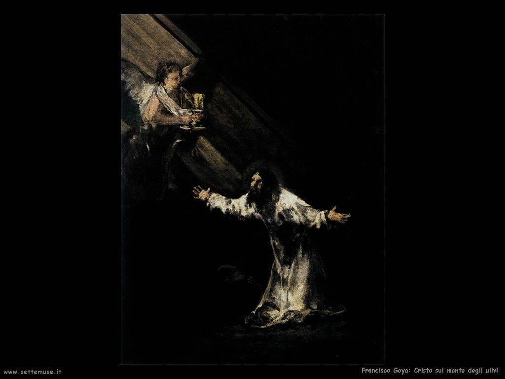 Francisco de Goya cristo sul monte degli ulivi