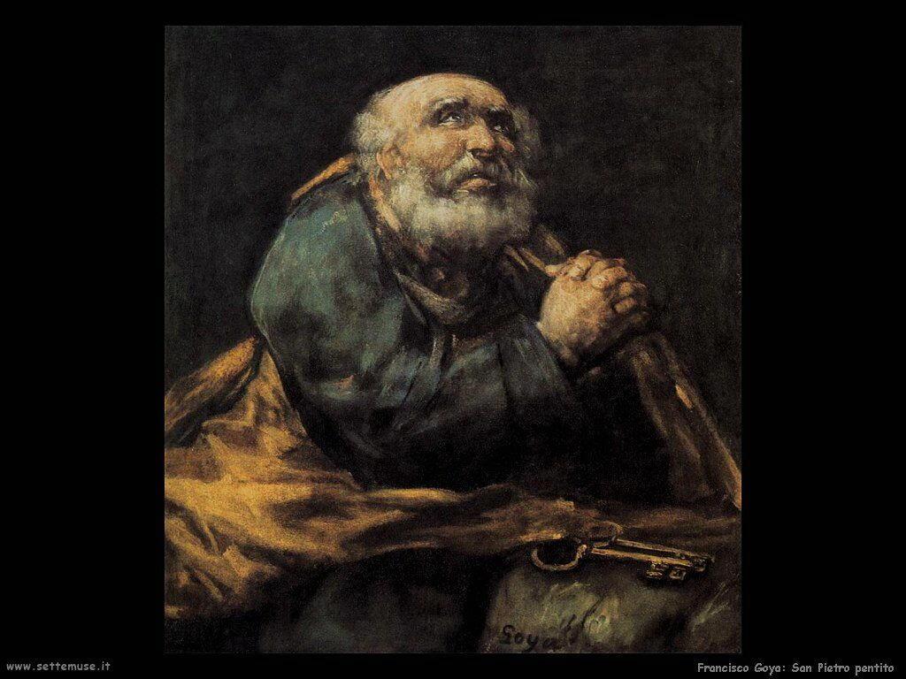 Francisco de Goya san pietro pentito