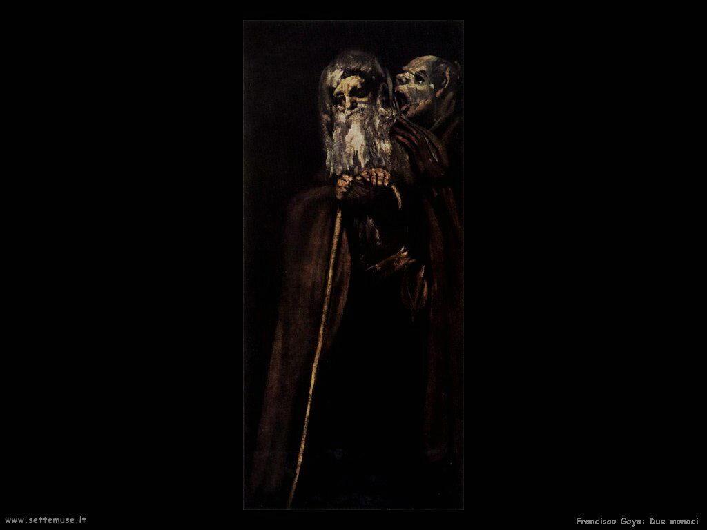 Francisco de Goya due monaci