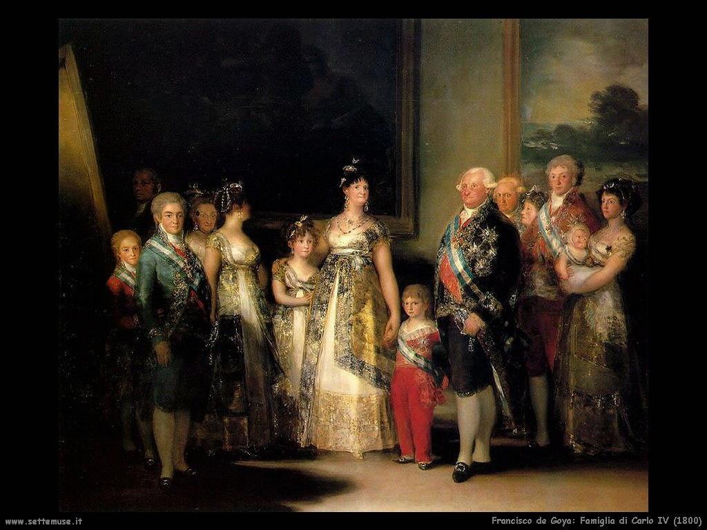 Francisco de Goya famiglia carlo IV 1800