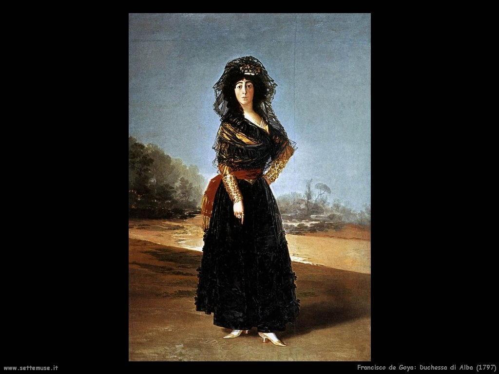 Francisco de Goya duchessa di alba 1797