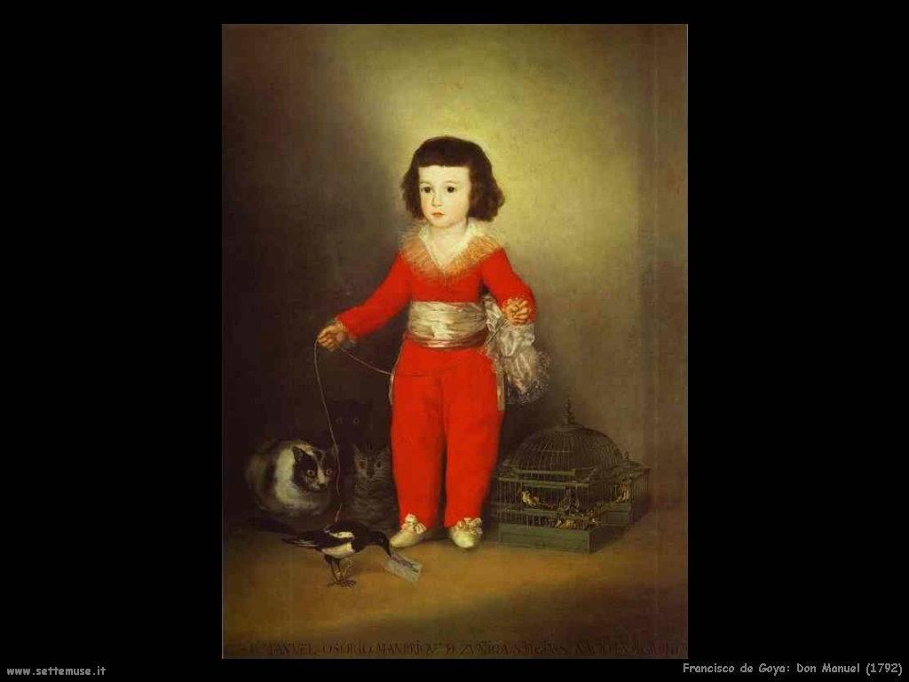 Francisco de Goya don manuel 1792