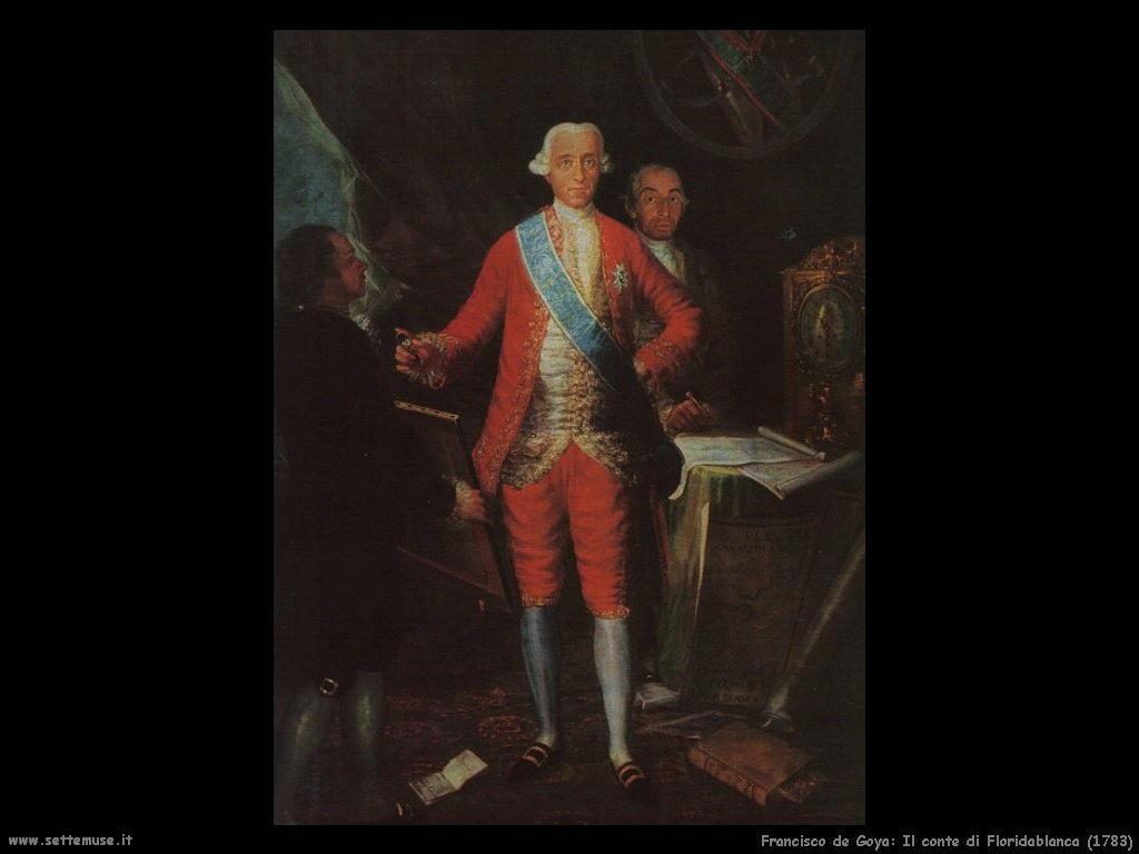 Francisco de Goya conte di floridablanca 1783