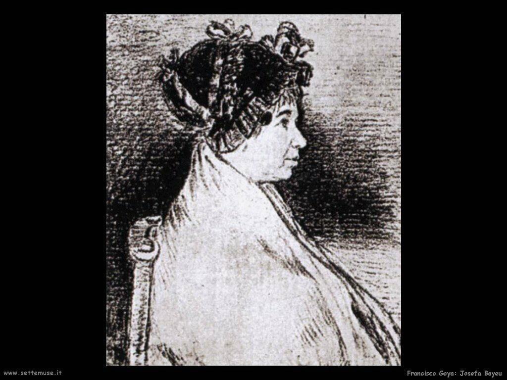 Francisco de Goya josefa bayeu