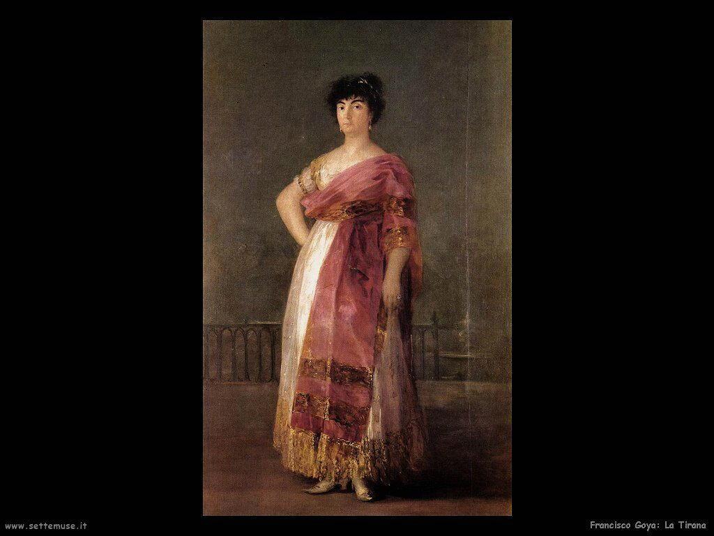 Francisco de Goya la tirana