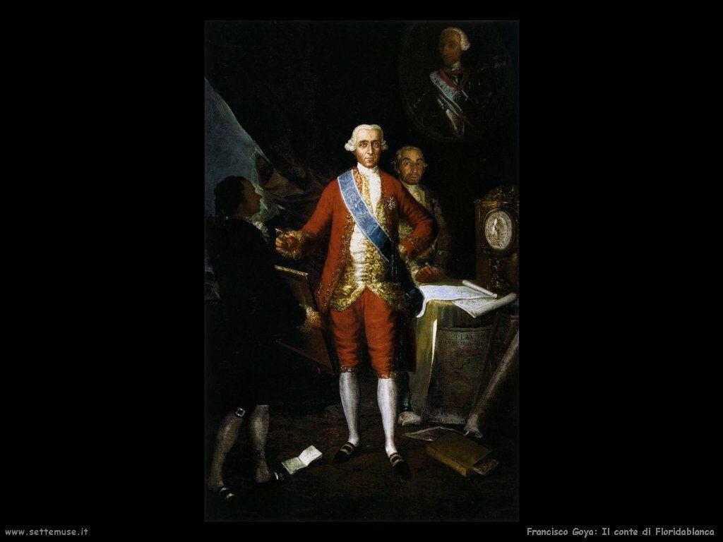 Francisco de Goya conte di floridablanca