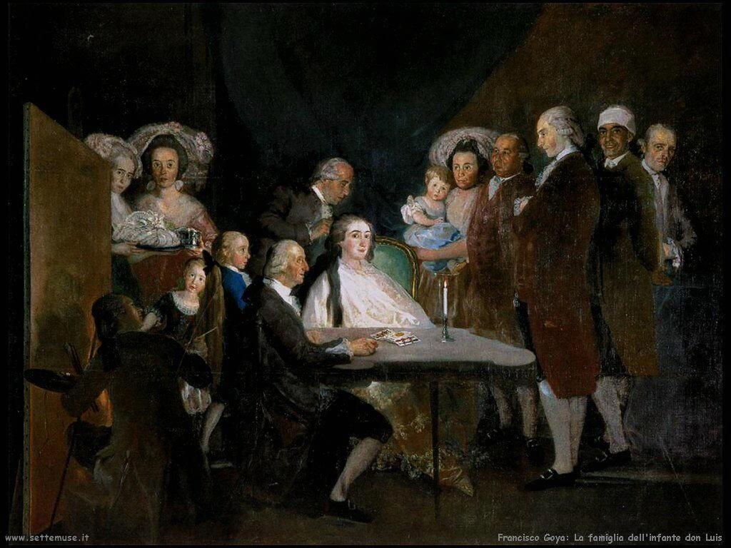 Francisco de Goya famiglia dell infante don luis