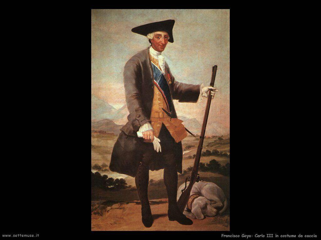 Francisco de Goya carlo iii in costume da caccia