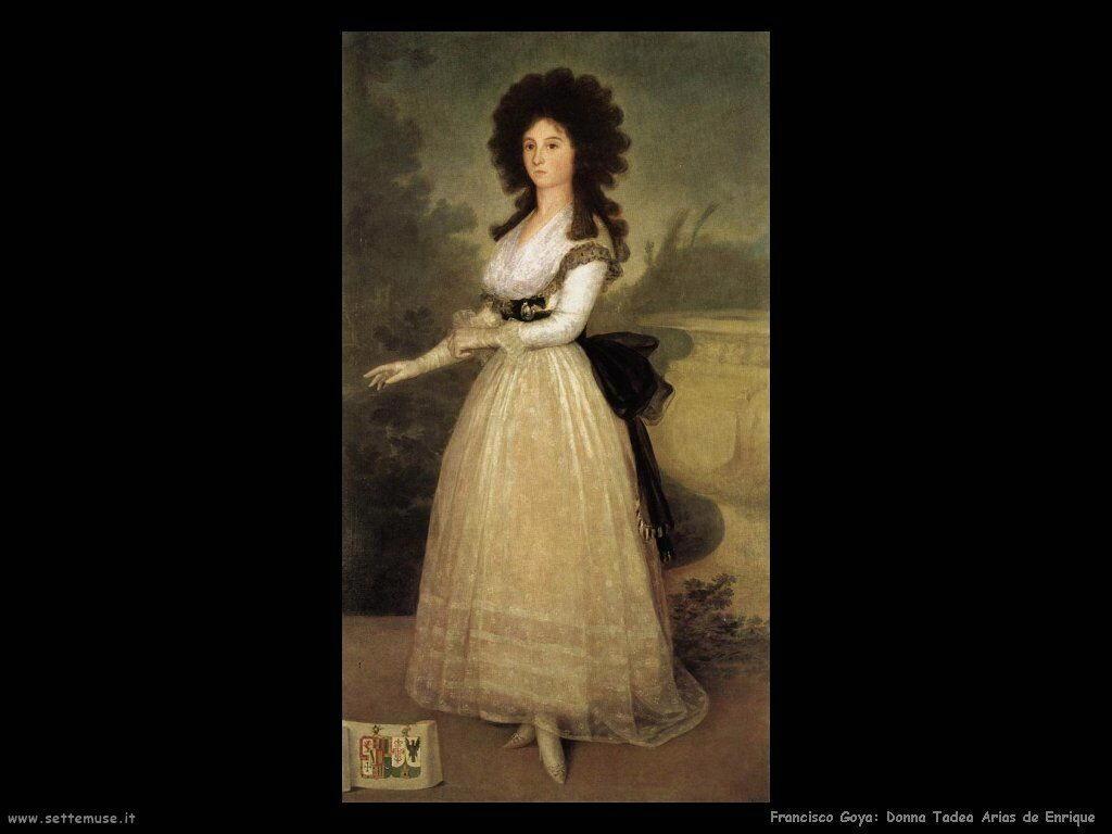Francisco de Goya dona tadea arias de enriquez