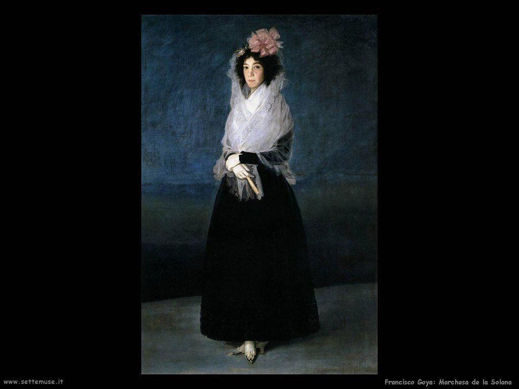 Francisco de Goya marchesa de la solana