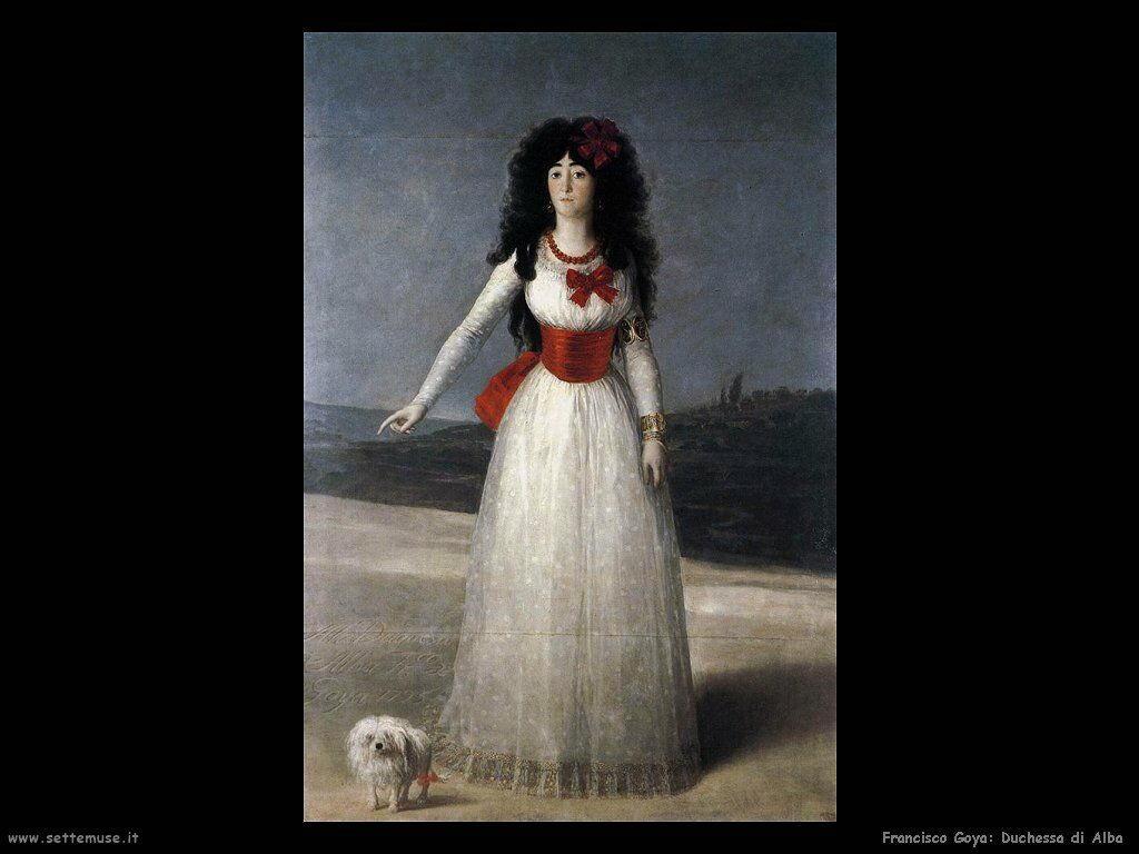 Francisco de Goya duchessa di alba