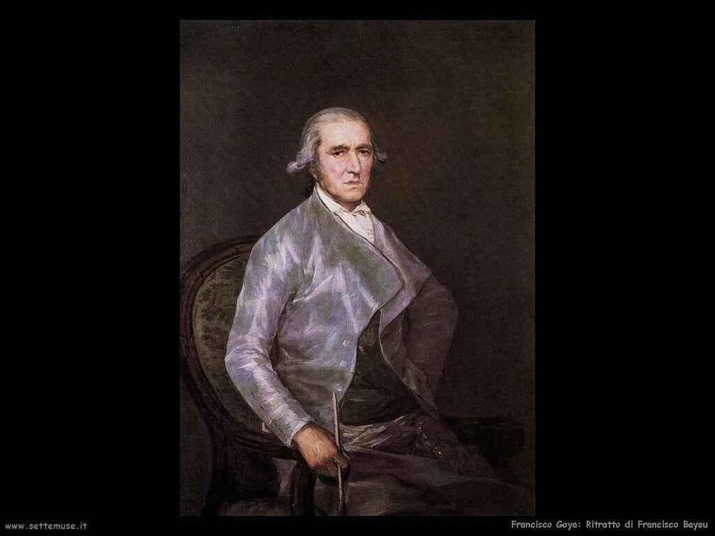 Francisco de Goya ritratto di francisco bayeu