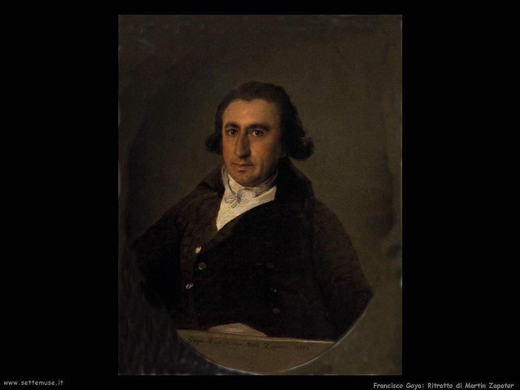 Francisco de Goya ritratto di martin zapater
