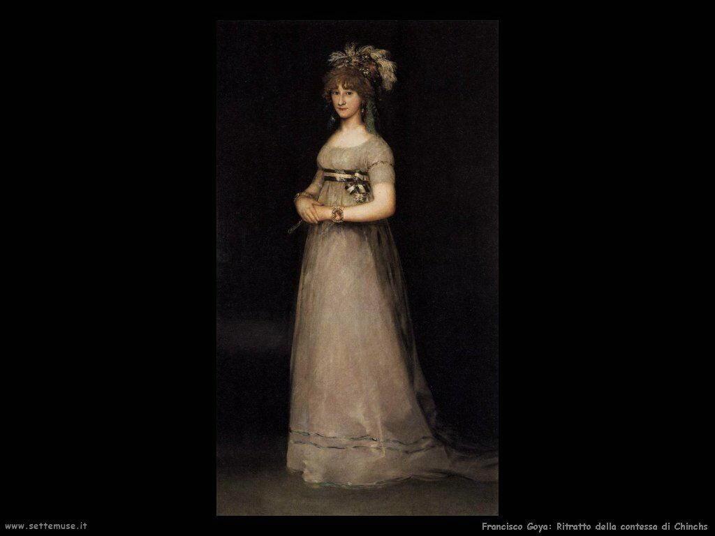 Francisco de Goya ritratto della contessa di chinchs