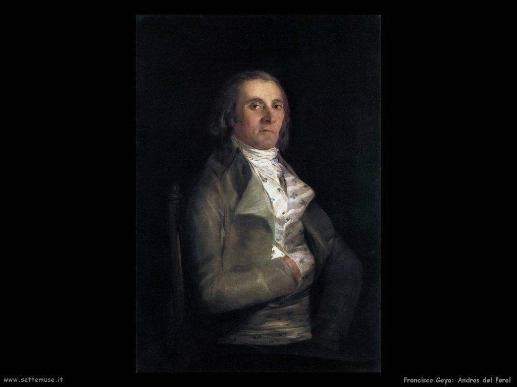 Francisco de Goya ritratto di andres del peral