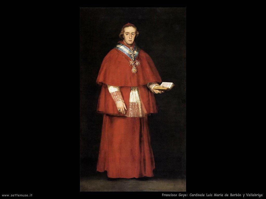 Francisco de Goya cardinale luis maria de borbon y vallabriga