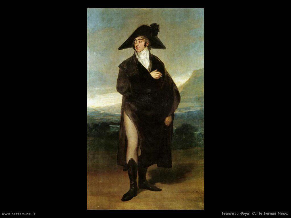 Francisco de Goya conte fernan ninez