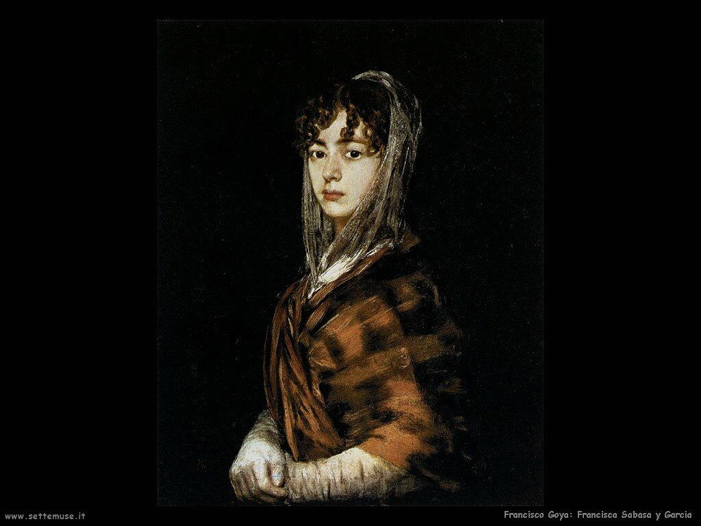 Francisco de Goya francisca sabasa y garcia