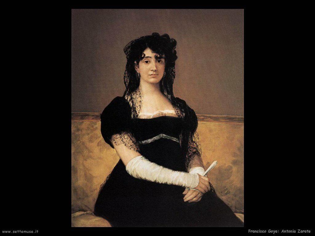 Francisco de Goya ritratto di antonia zarate