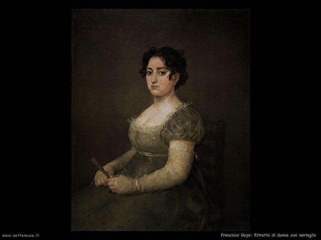 Francisco de Goya ritratto di ragazza con ventaglio