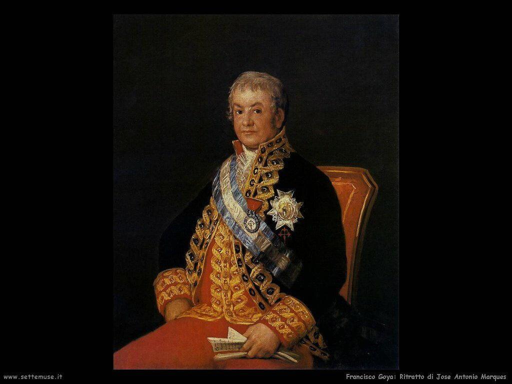 Francisco de Goya ritratto di jose antonio marques