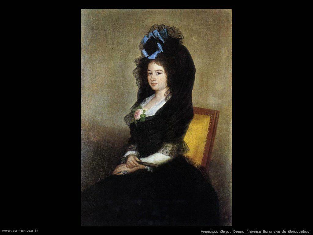 Francisco de Goya donna narcisa baranana de goicoechea