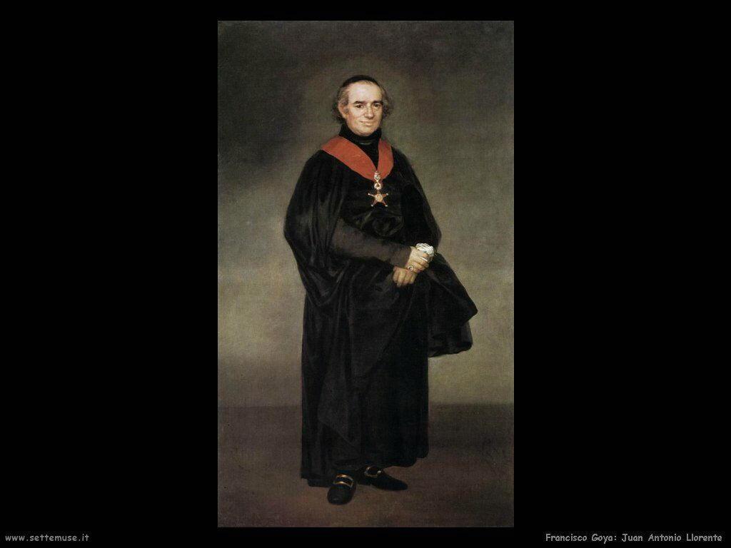 Francisco de Goya juan antonio llorente