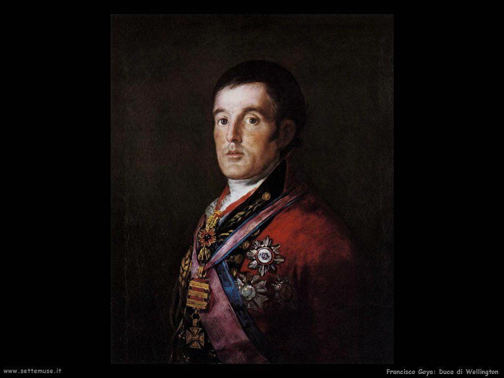 Francisco de Goya ritratto del duca di wellington