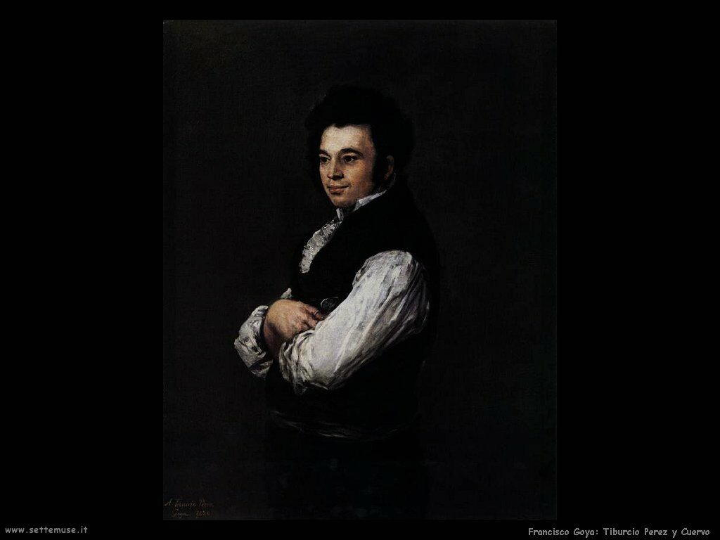 Francisco de Goya tiburcio perez y cuervo