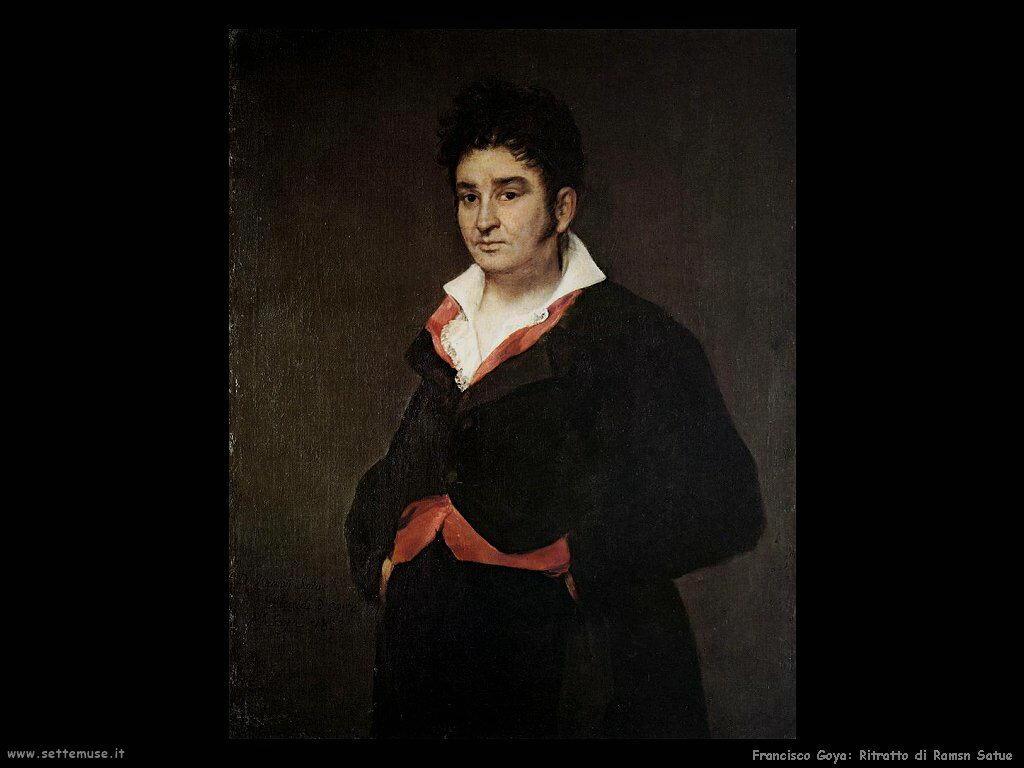 Francisco de Goya ritratto di ramsn satue