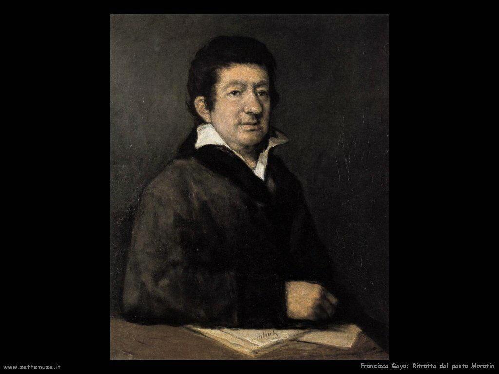 Francisco de Goya ritratto del poeta moratin