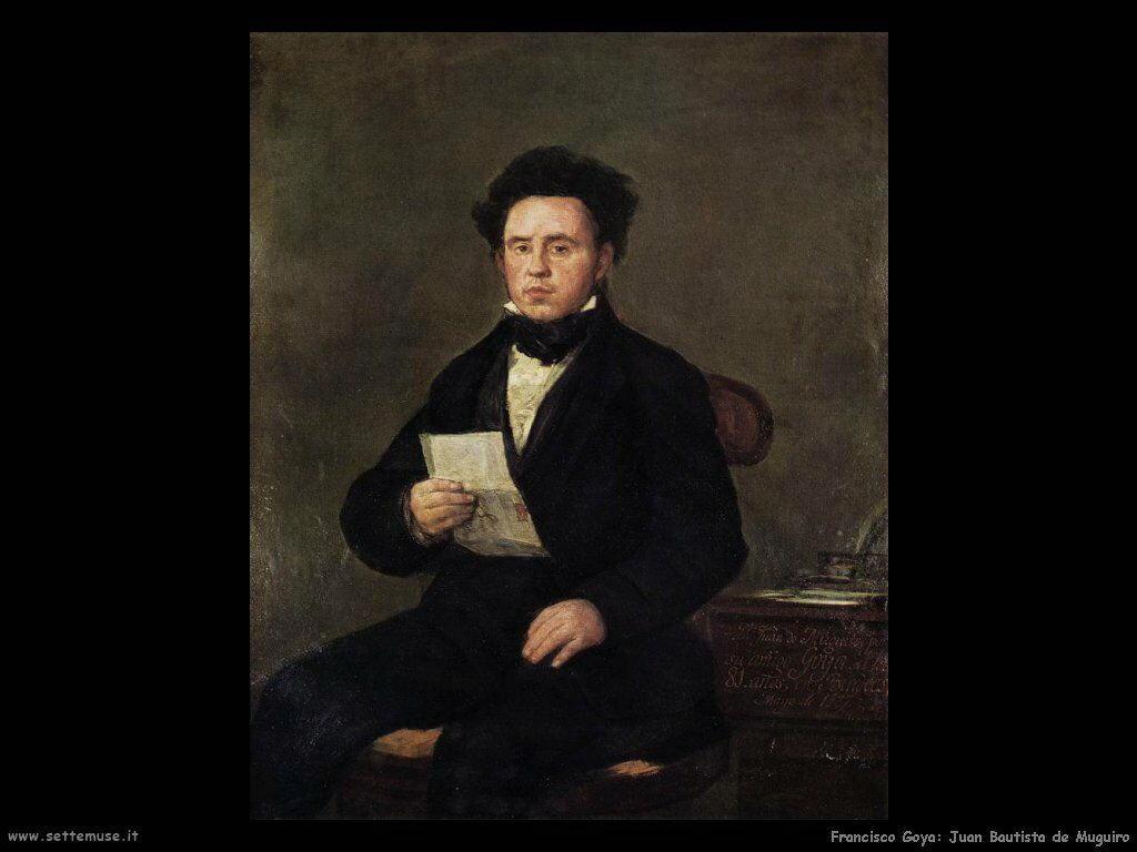 Francisco de Goya juan bautista de muguiro