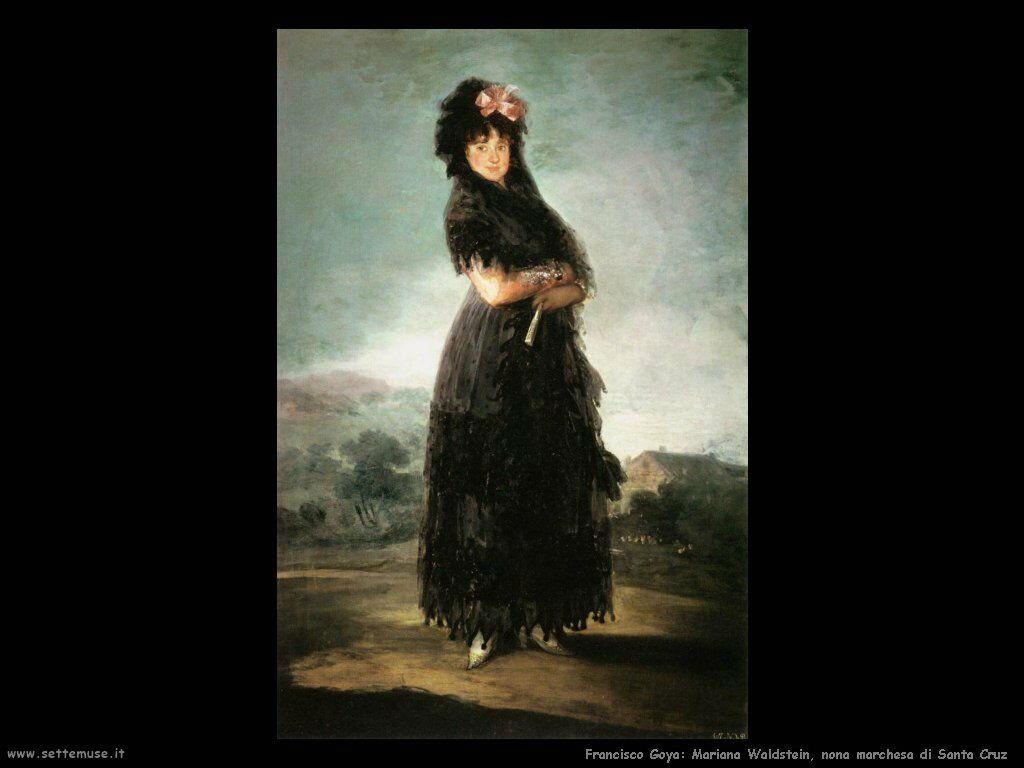 Francisco de Goya mariana waldstein nona marchesa di santa cruz